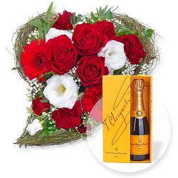 Amore und Champagner Veuve Clicquot