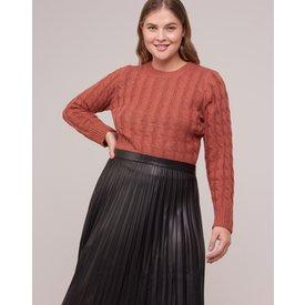 suéter tranças textura, capuccino
