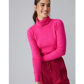 suéter turtle neck, pink