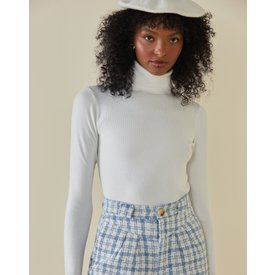 suéter turtle neck, offwhite