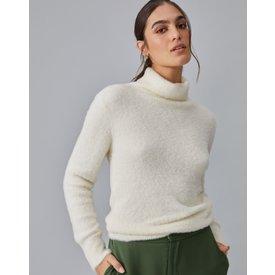 suéter slim felpudo, offwhite