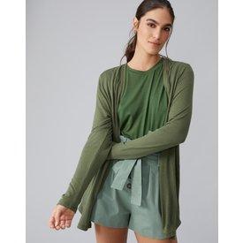 cardigan básico viscolinho, verde militar