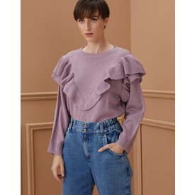 suéter babados, lilás