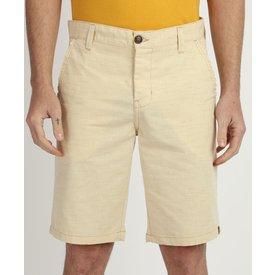 bermuda sarja texturizada masculina chino reta bolsos amarelo claro