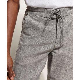 bermuda sarja masculina viés contrastante bolso cinza