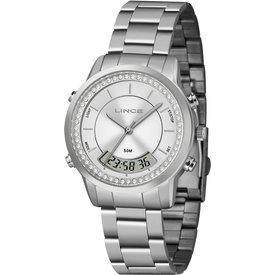 relógio feminino lince prateado anadig lam4640l s1sx prateado