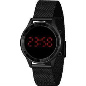 relógio feminino lince preto digital ldn4647l pxpx preto