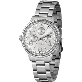 relógio feminino lince prateado analógico lmm4624l s2sx prateado
