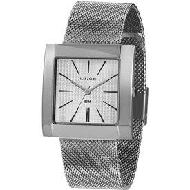 relógio feminino lince prateado analógico lqm4654l b1sx prateado