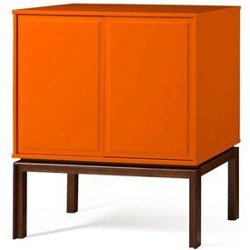 adega quartzo 2 portas cor cacau laranja vivo  29136 29136
