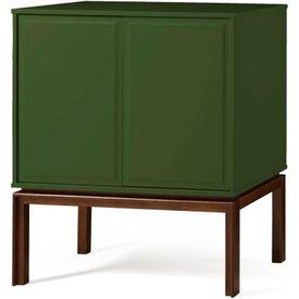 adega quartzo 2 portas cor cacau verde escuro  29133 29133