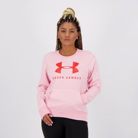 moletom under armour rival fleece sportstyle feminino rosa