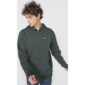 moletom flanelado aberto vans basic zip hoodie verde