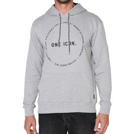 moletom oakley one icon circle pullover masculino cinza