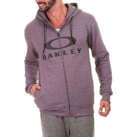 moletom oakley aberto bark f z hoodie masculino cinza escuro