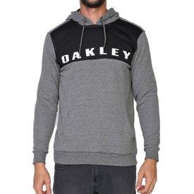 moletom oakley sport pullover masculino cinza