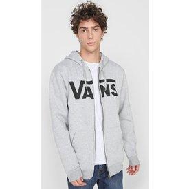 moletom flanelado aberto vans classic zip hoodie ii cinza