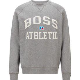 moletom boss stedman boss x russell athletic cinza