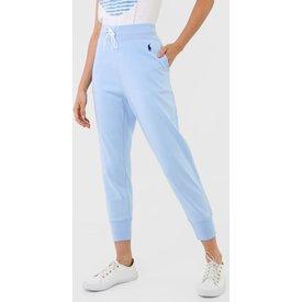 calça moletom polo ralph lauren jogger logo azul