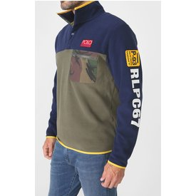 suéter polo ralph lauren lettering azul
