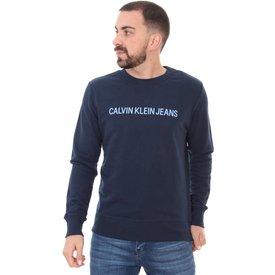 moletom calvin klein masculino classic front blue azul marinho