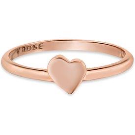 anel life coração menor banho ouro rosé