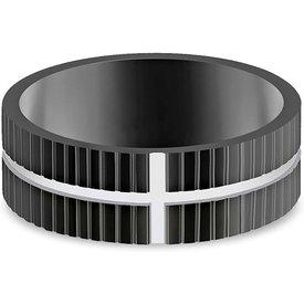 anel life cruz masculinoço preto