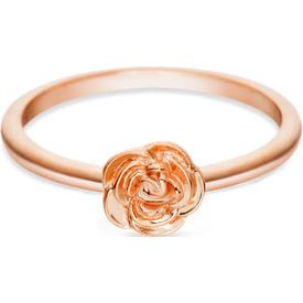 anel life flor rosa banho ouro rosé