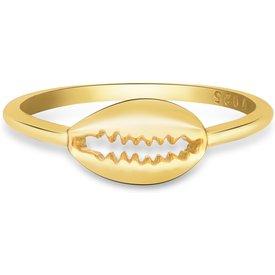 anel life segredos búzios banho ouro amarelo