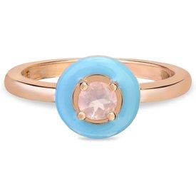 anel life encanto rosé quartzo rosa