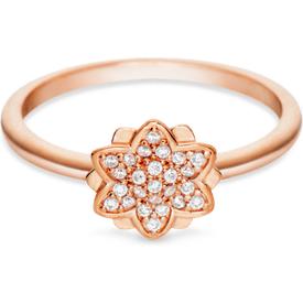 anel life flor lótus banho ouro rosé