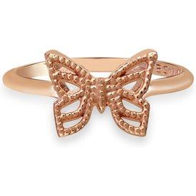 anel life enigma borboleta banho ouro rosé