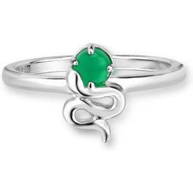 anel life serpente ágata verde