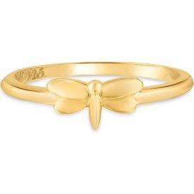 anel life banho ouro amarelo libélula