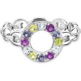 anel life vazado iolita ametista topázio peridoto