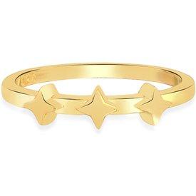 anel life estrelas banho ouro amarelo
