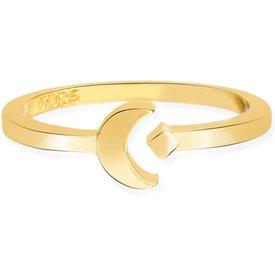 anel life lua banho ouro amarelo