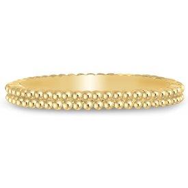 anel life bolinhas banho ouro amarelo