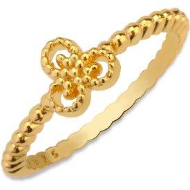 anel life triskle patuás banho ouro amarelo