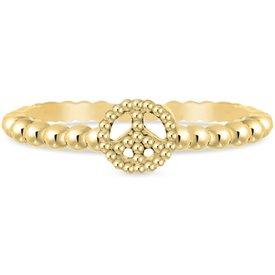 anel life paz amor banho ouro amarelo