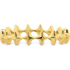 anel life estrela banho ouro amarelo