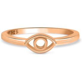 anel life olho grego banho ouro rosé