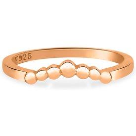 anel life triangular bolinhas banho ouro rosé