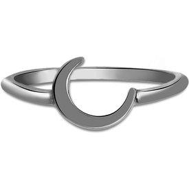 anel life lua banho ródio negro