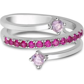 anel life pink triplo quartzos rosas