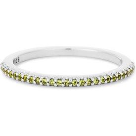 anel life pavê zircônias verde claras