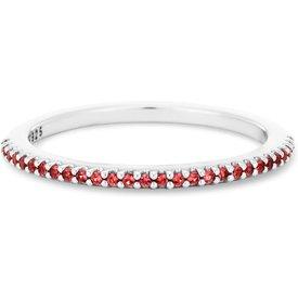 anel life pavê zircônias vermelhas