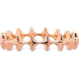 anel life estrelas banho ouro rosé