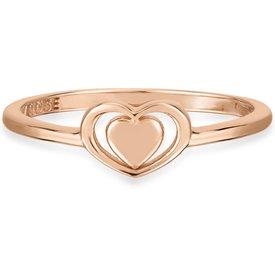 anel life bolinha coração banho ouro rosé
