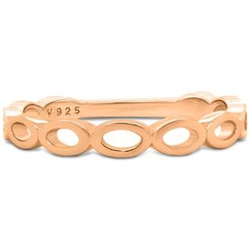anel life oval banho ouro rosé